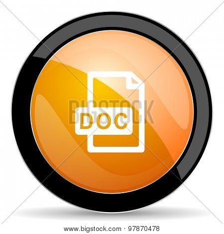 doc file orange icon