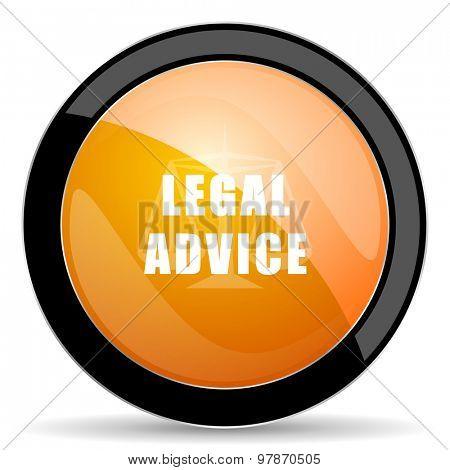 legal advice orange icon law sign