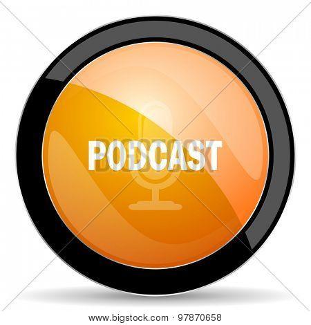 podcast orange icon