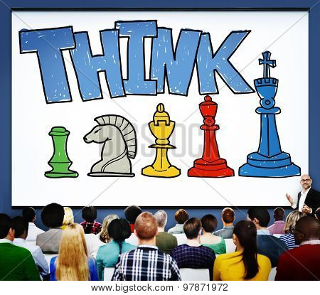 Think Generate Ideas Thoughts Genius Concept Brain Work Concept