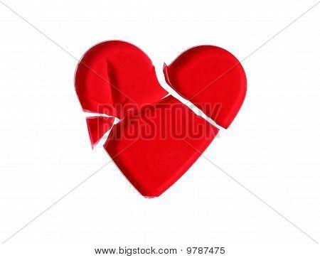 Broken Red Glass Heart