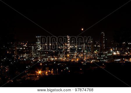 Oil Refinery Manufacturing Night Light