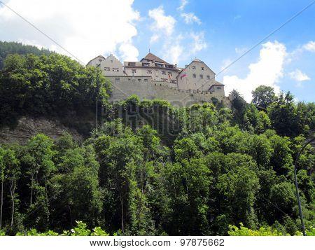 Liechtenstein Castle On Mountian Top