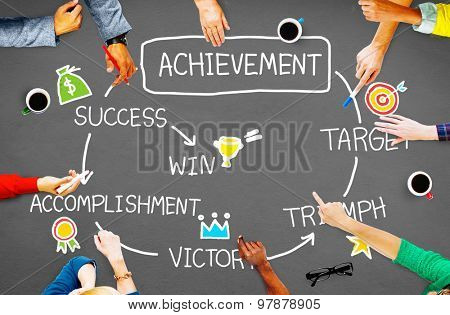 Achievement Target Accomplishment Goal Success Concept