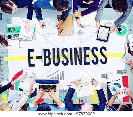E-business Internet Networking Website Commerce Concept