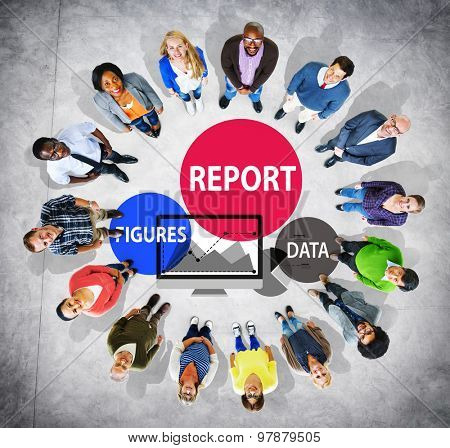 Financial Report Strategy Tactics Information Concept