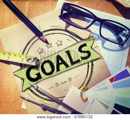 Goal Aspiration Expectation Encourage Dreams Concept