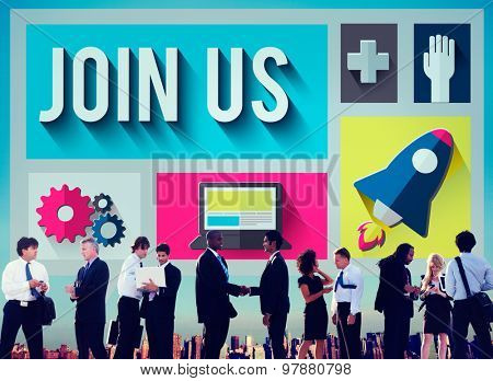 Join Us Member Corporate Support Team Unity Concept