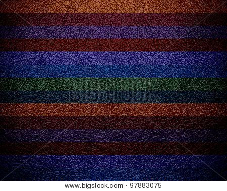 Colorful stripes pattern leather texture background
