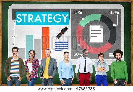 Business Strategy Tactics Planning Concept