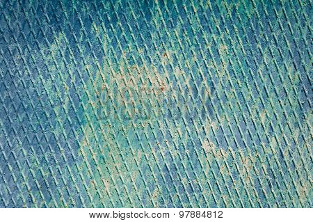 Abstract Old Blue Grunge Rusty Metal Background