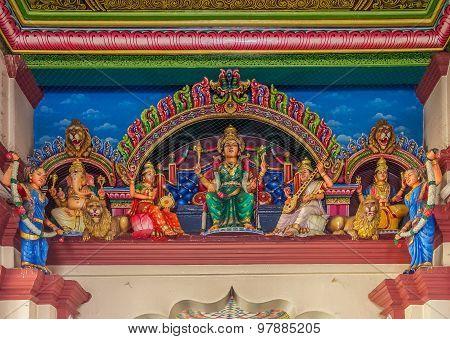 Sri Mariamman Hindu Temple Altar