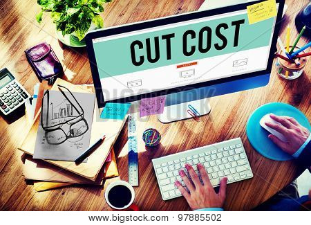 Cut Cost Reduce Recession Deficit Economy FInance Concept