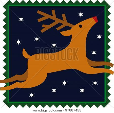 Reindeer Christmas Illustration