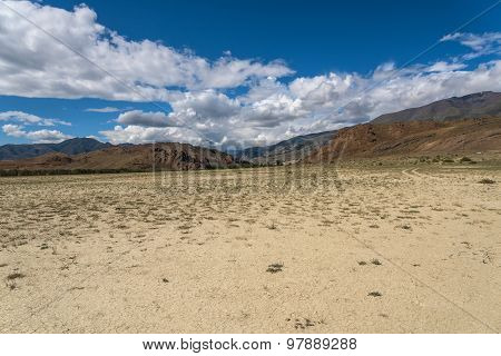 Steppe Desert Mountain Sky
