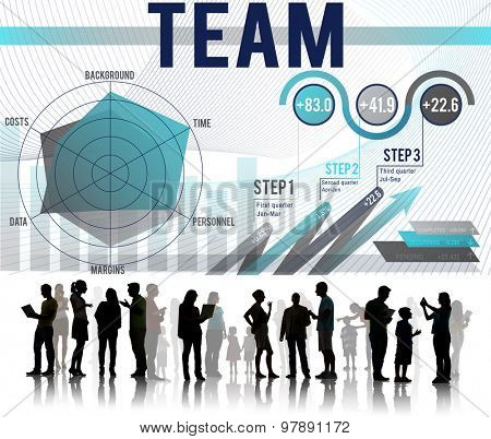 Team Teamwork Corporate Partnership Cooperation Concept