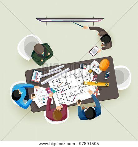 Business presentation. Flat design.