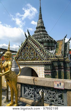 Demon-keeper in Wat Phra Kaew, Emerald Buddha Temple