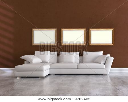White Elegant Couch