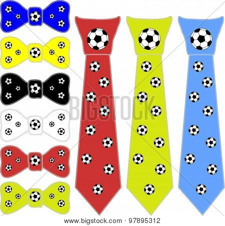 ties and the bow tie for a football player