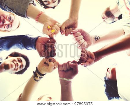 Friends Friendship Fist Bump Togetherness Concept