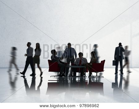 Corporate Business Team Discussion Collaboration Concept