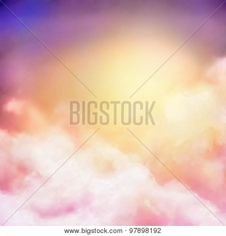 Sunrise Sky Painting Vector Background