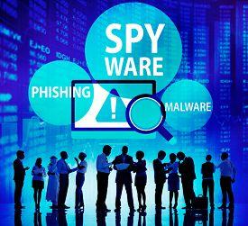 pic of spyware  - Spyware Hacking Phishing Malware Virus Concept - JPG