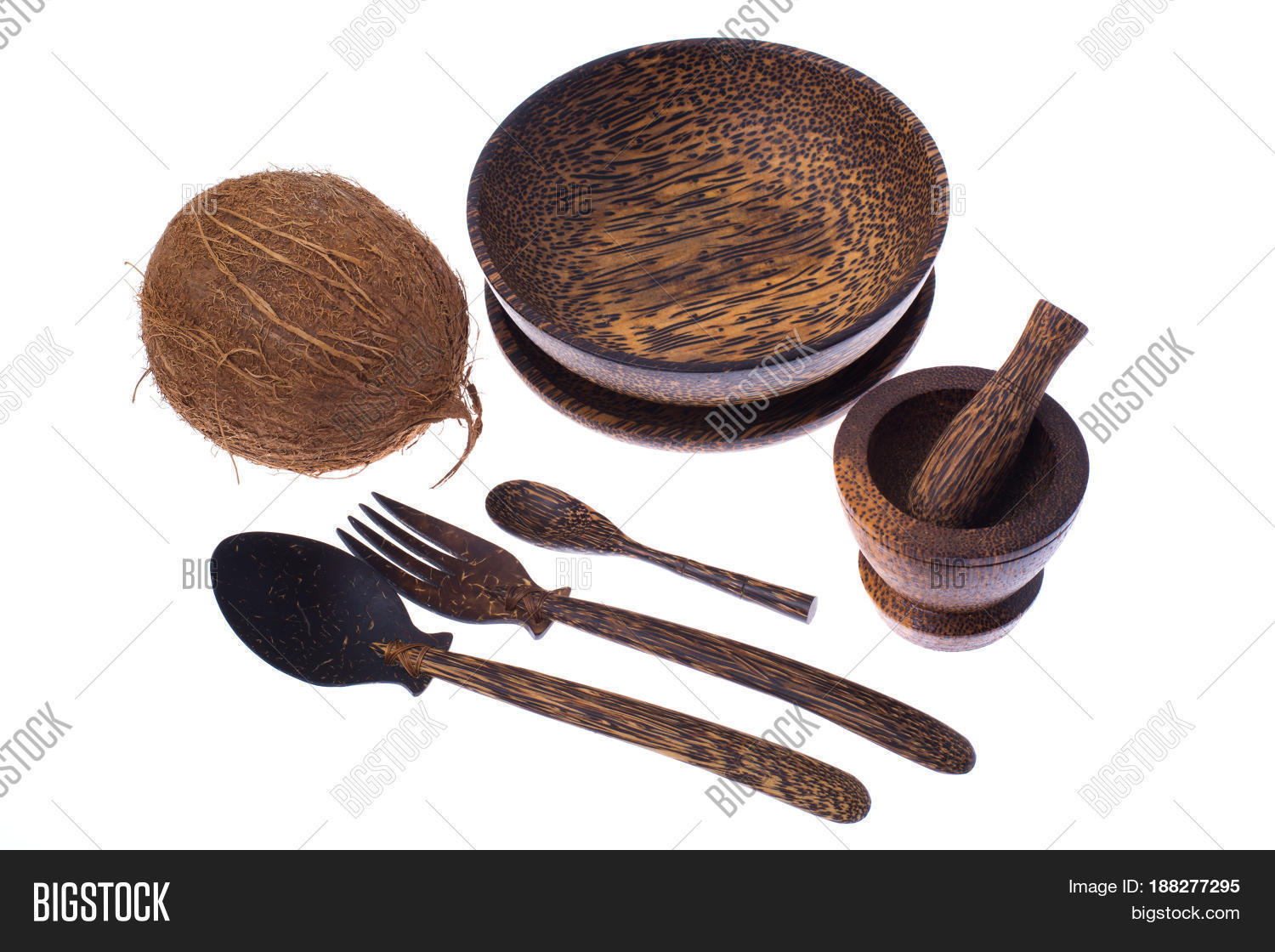 Exotic dining room wooden utensils image photo bigstock for Dining room utensils