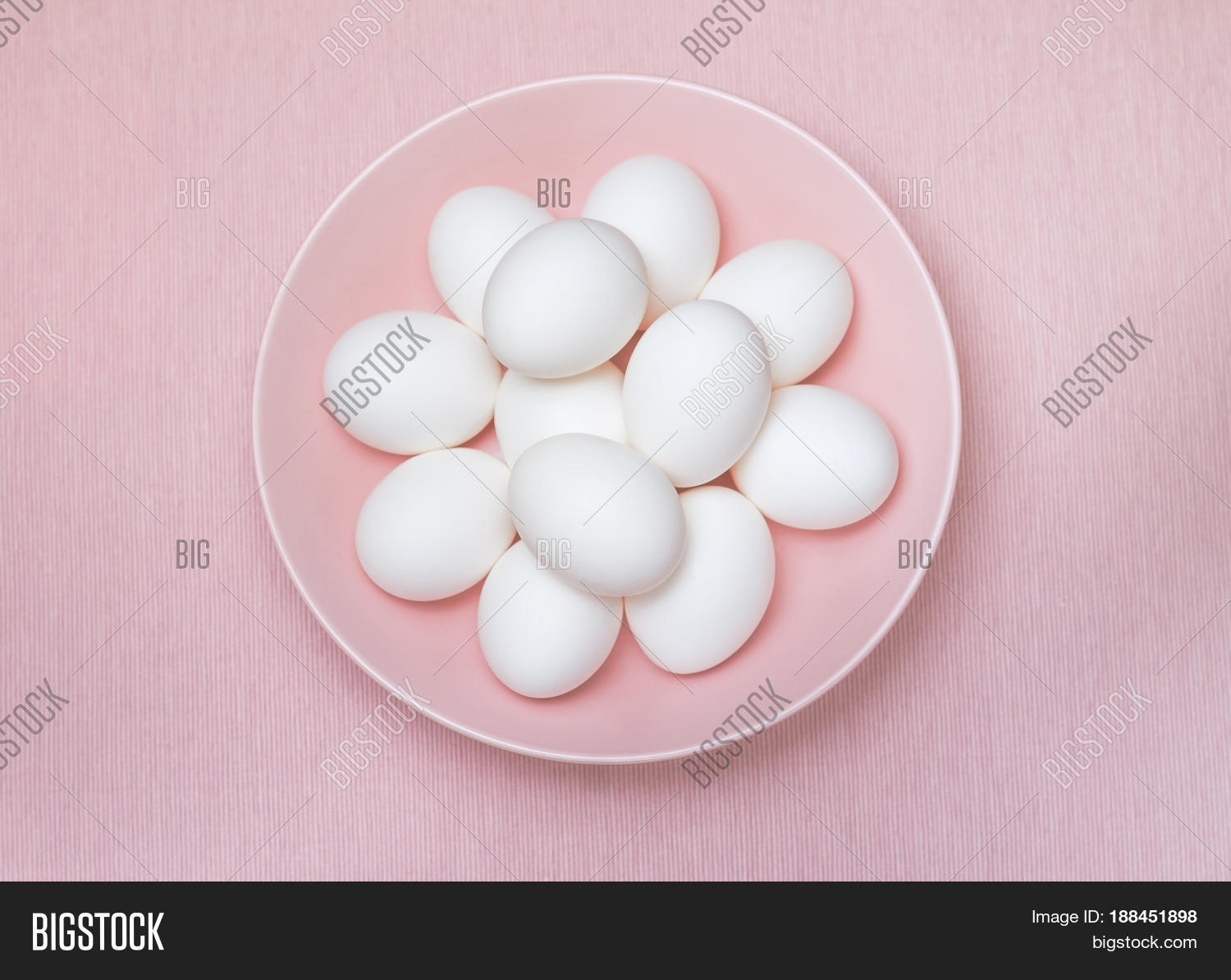 Top View Dozen White Eggs On Pink Image & Photo | Bigstock
