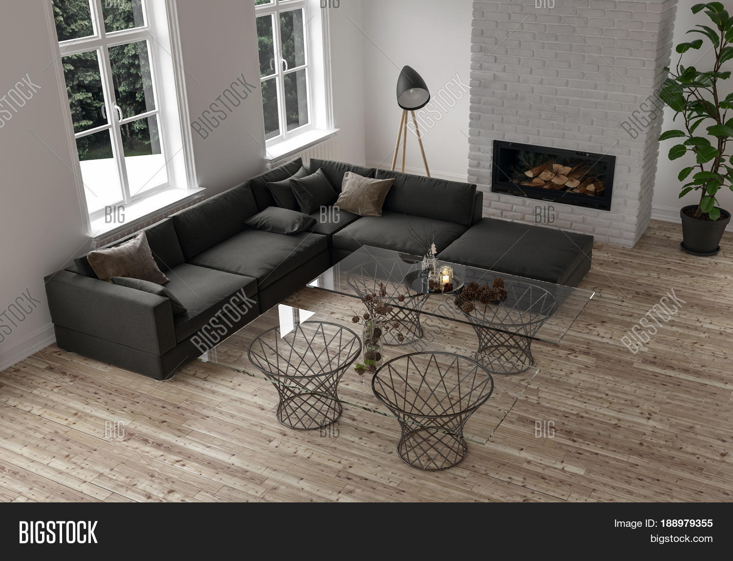 Minimalist decor modern living room image photo bigstock for 500 decoration details minimalism