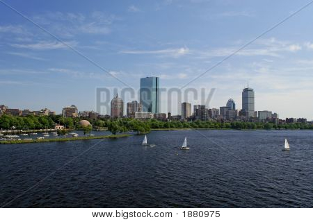 Wide Angle View Of Boston