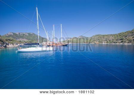Boats On The Turkish Mediterranean