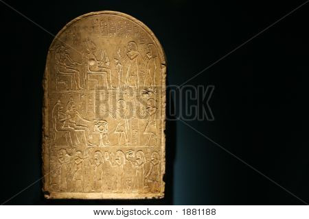 Stone Tablet With Hieroglphics