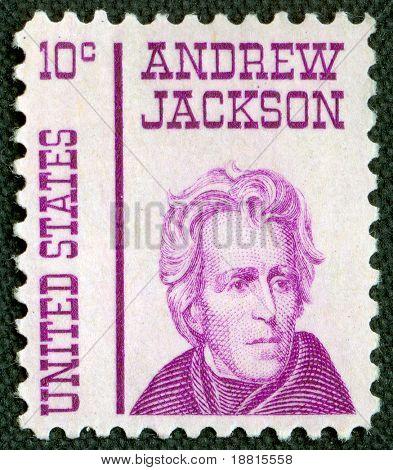 Andrew Jackson on US vintage postmark