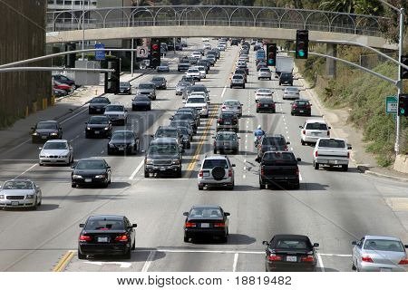 Traffic in Santa Monica, California