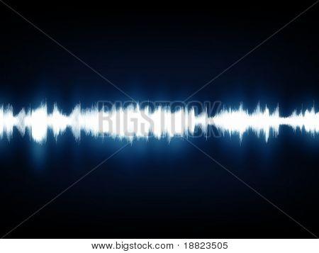 Sound wawes on black