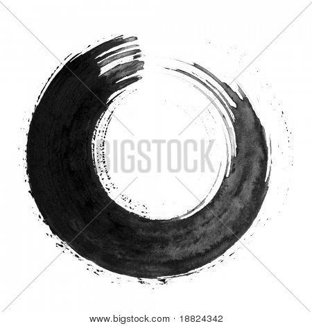 Black japanese calligraphic brush