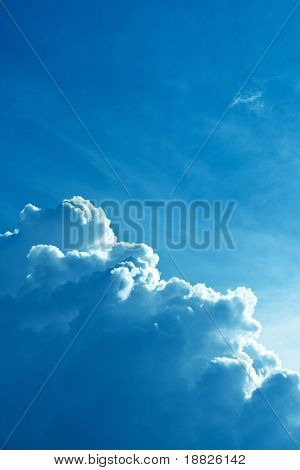 Dramatic storm cloud