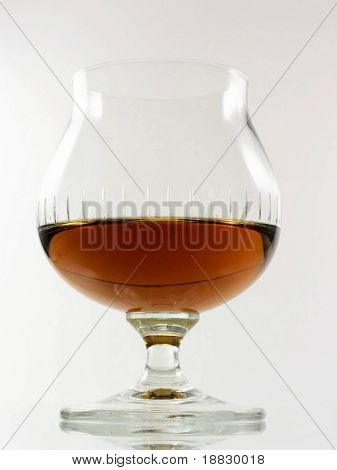 A glass of rum