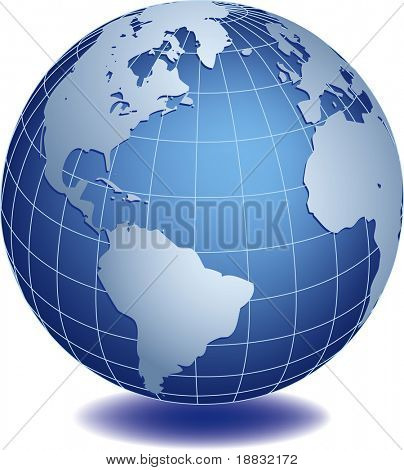 Vector illustration of world globe