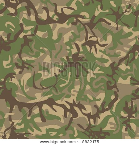 Seamless military pattern for textile industry