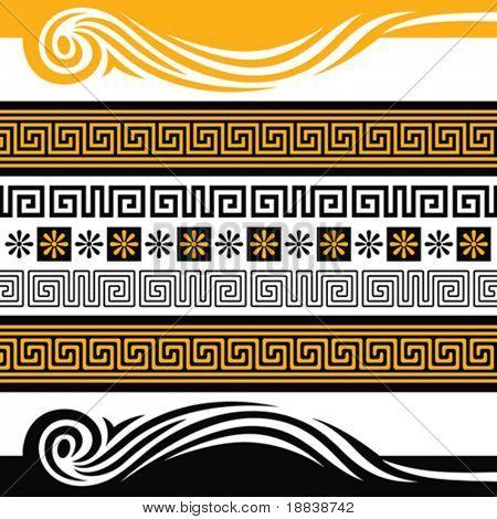 Vector set von Griechenland Ornamenten, Sie können mit ihnen etwas dekorieren