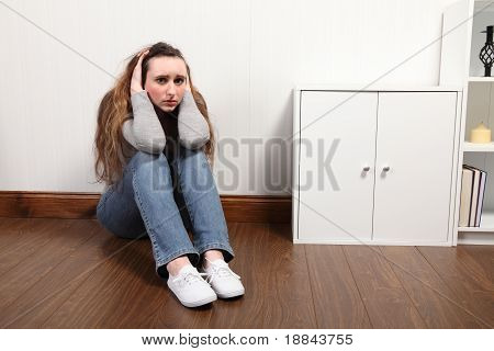 Teenage Girl Frightened And Alone Very Worried