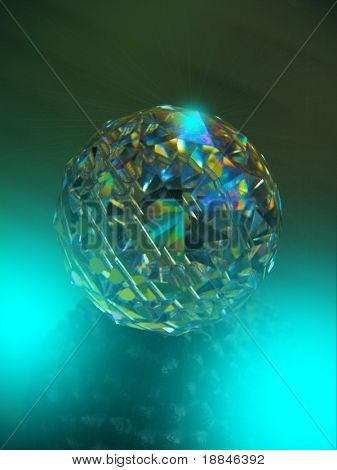 digitally enhanced photograph of a beautiful clear chrystal