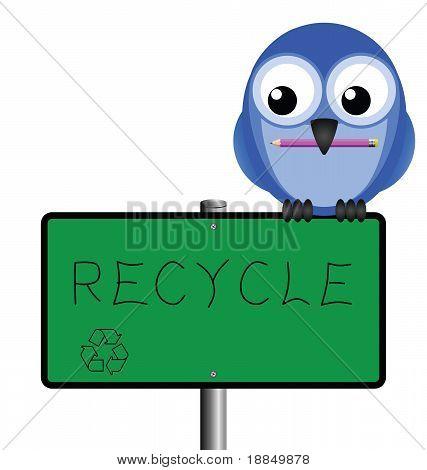 Bird sign recycle