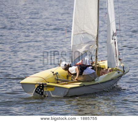 Youn Girl Sailing