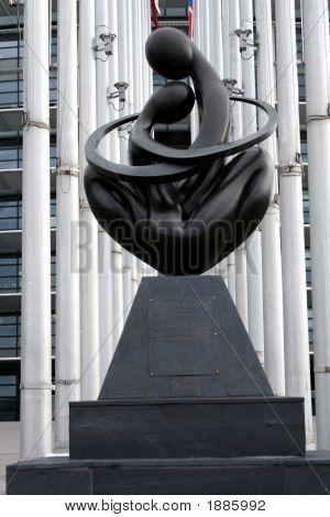 Europe A Coeur, Monumental Sculpture At The European Parliament, Strasbourg