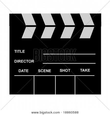 Einem klassischen Film-Schiefer