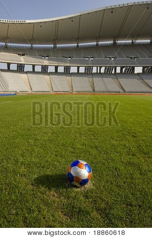 Ball In The Stadium At The Penalty Point